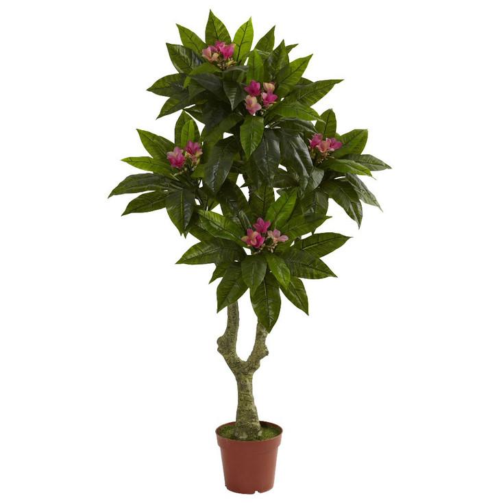 5' Silk Plumeria Tree UV Resistant Indoor Outdoor