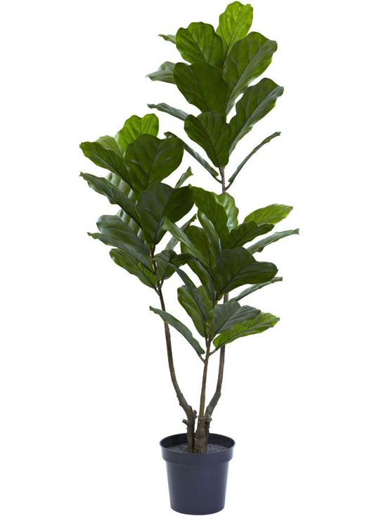 "65"" Fiddle Leaf Silk Tree UV Resistant, Indoor Outdoor"