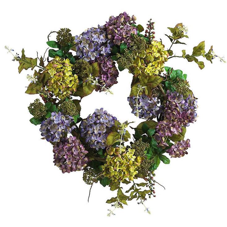 """24"""" Mixed Hydrangea Wreath"""