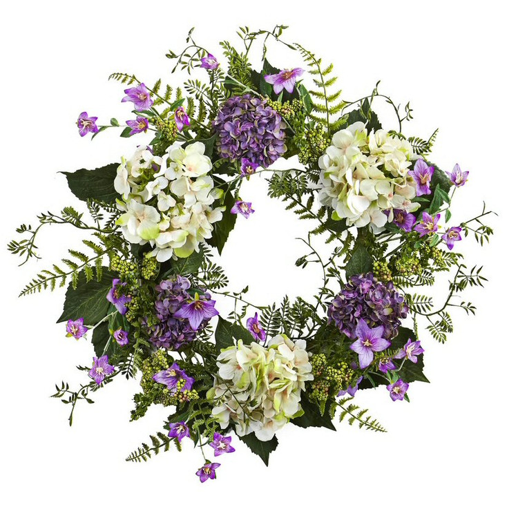 24'' Hydrangea Berry Silk Wreath