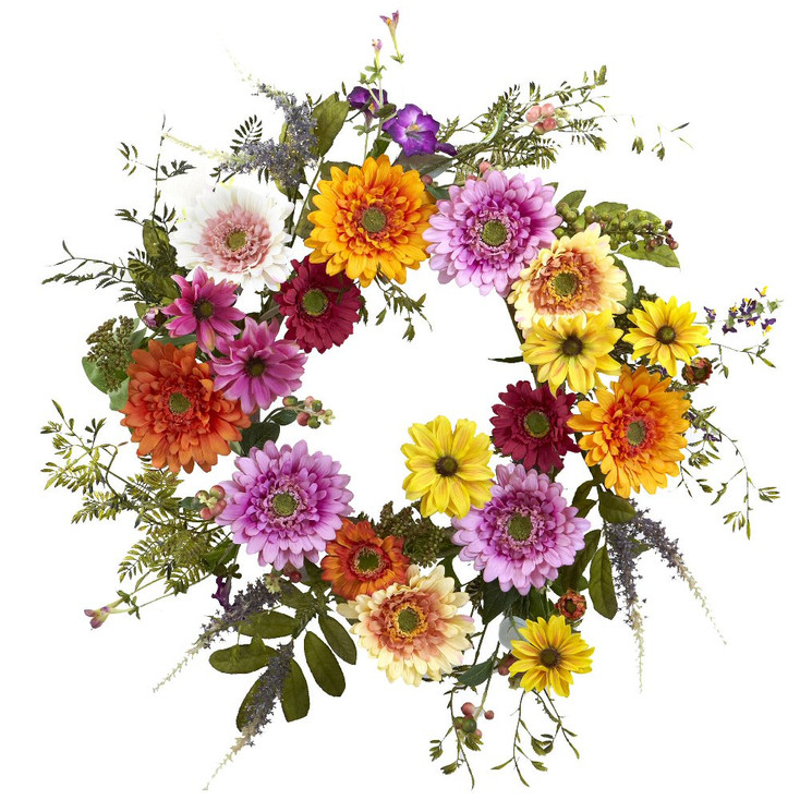 "26"" African Sunflower Silk Wreath"