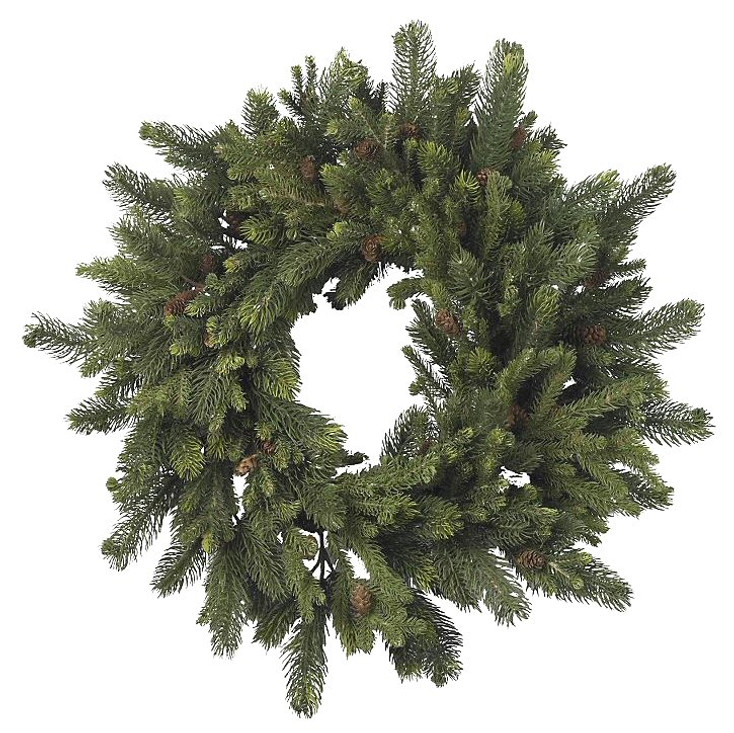 """30"""" Pine and Pinecone Wreath"""