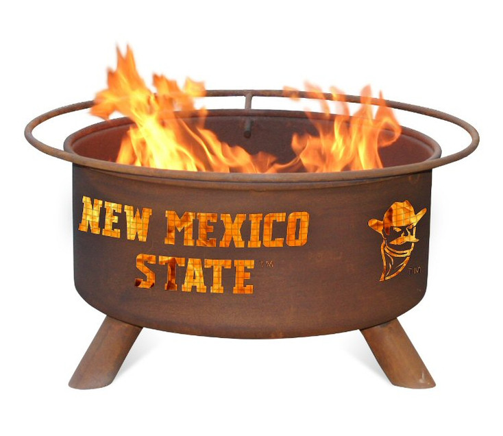 NMSU New Mexico State University Aggies Metal Fire Pit