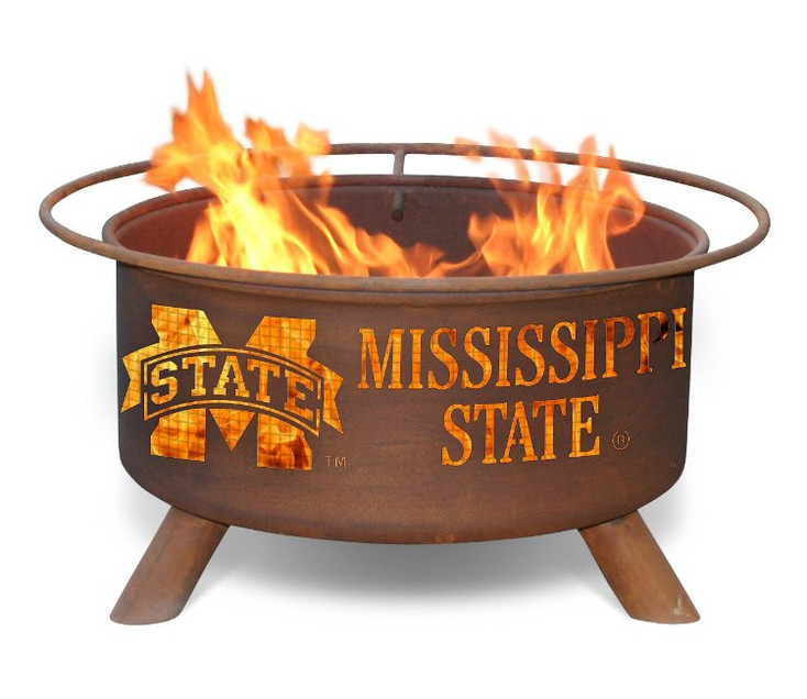 Mississippi State University Bulldogs Metal Fire Pit