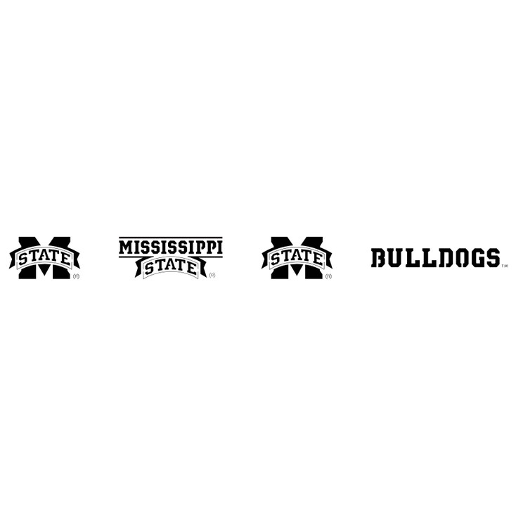 Mississippi State University Bulldogs Metal Fire Pit Strip Details