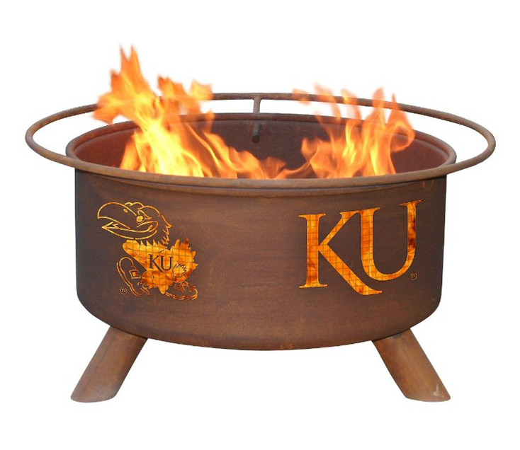 University of Kansas Jayhawks Metal Fire Pit