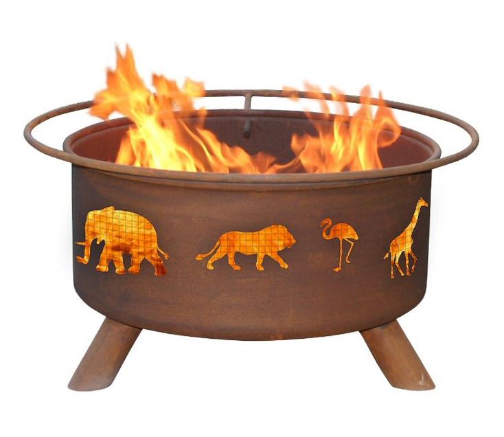 Safari Animals Metal Fire Pit