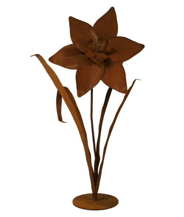 Large Daffodil Flower Metal Outdoor Garden Sculpture