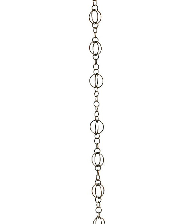 8.5' Metal Antique Copper Life Circles Rain Chain