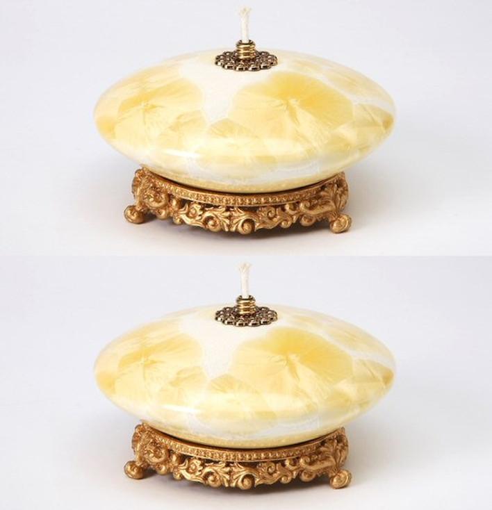 Yellow Oil Lamp, Set of 2
