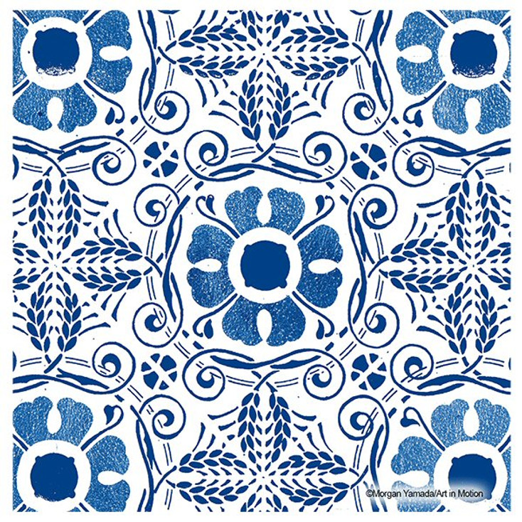 Blue Marrakesh Absorbent Beverage Coasters by Morgan Yamada, Set of 12