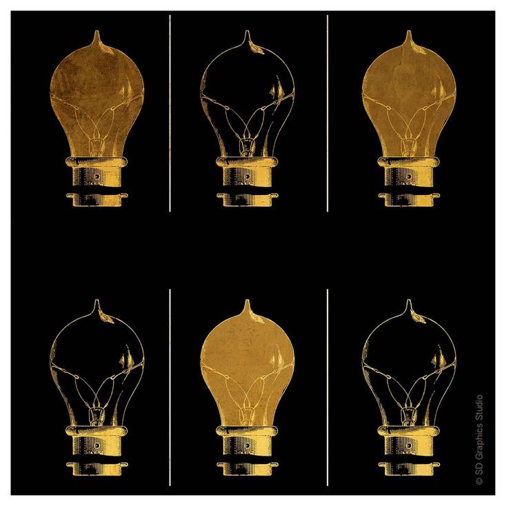 Shine & Illuminate Light Bulbs Absorbent Beverage Coasters, Set of 8