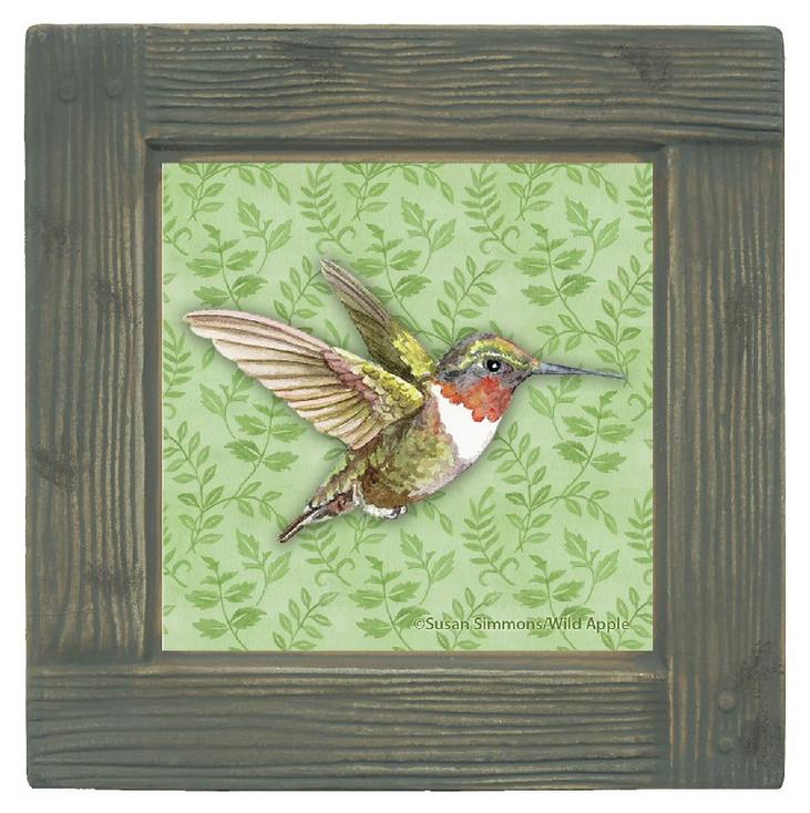 Hummingbird Breeze Beverage Coasters, Set of 8