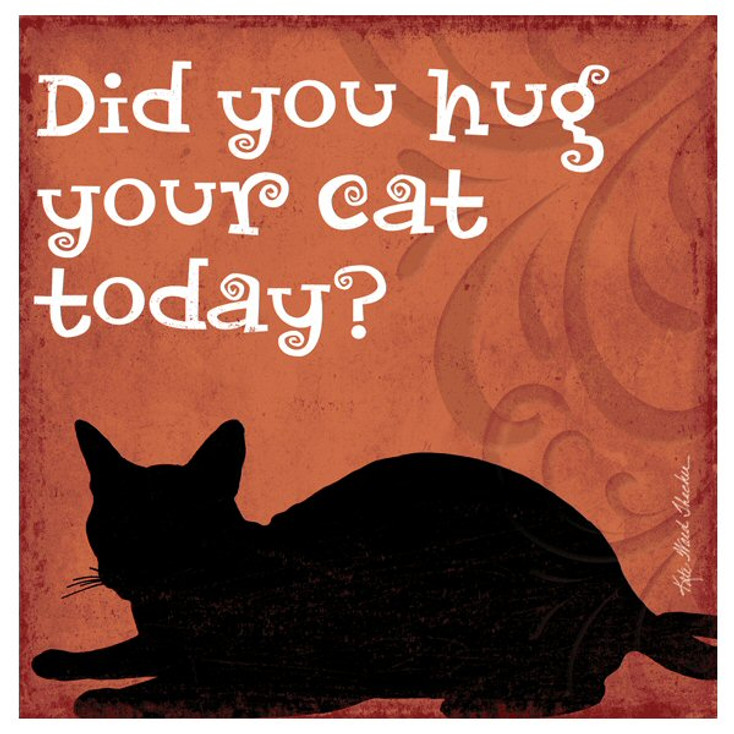 Did You Hug Your Cat Today? Coasters by Kate Ward Thacker, Set of 12