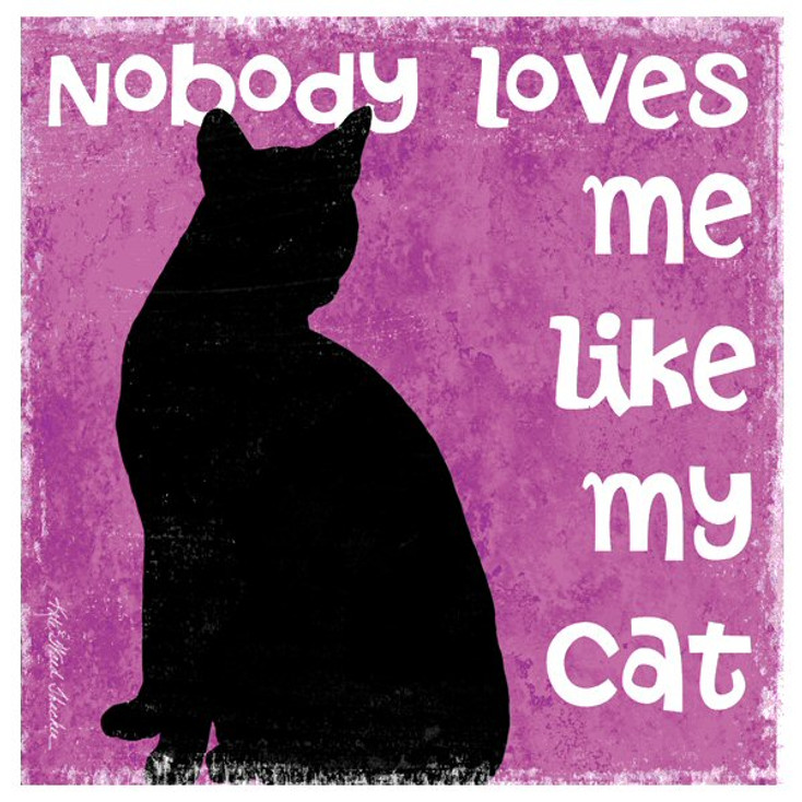 Nobody Loves Me Like My Cat Coasters by Kate Ward Thacker, Set of 12