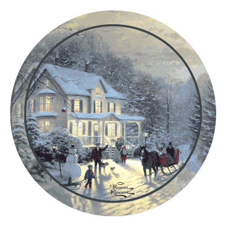 Home for the Holidays Beverage Coasters by Thomas Kinkade, Set of 8