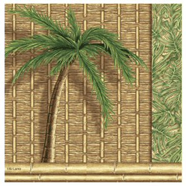 Far and Away Palm Tree Beverage Coasters by Jb Lantz, Set of 8