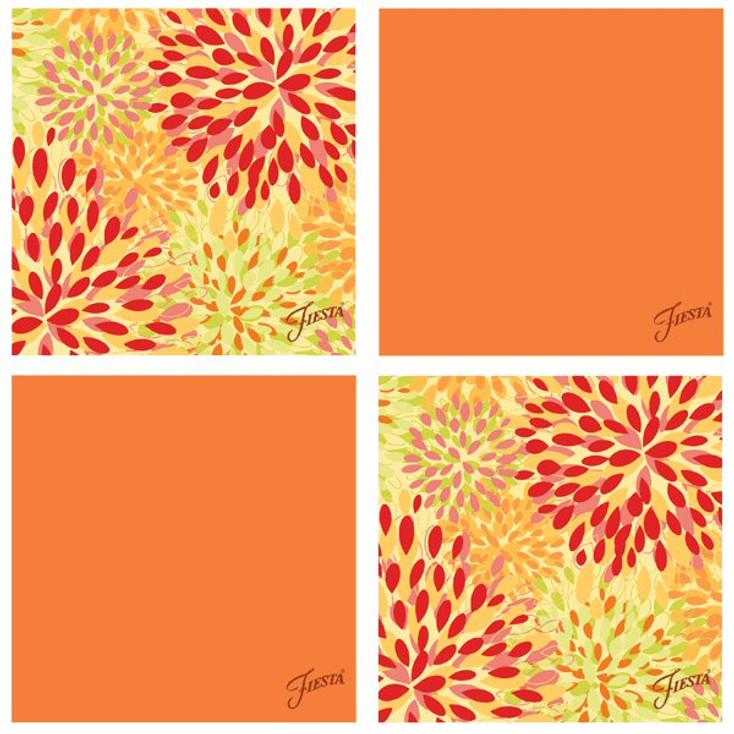 Fiesta Tangerine Warm Calypso Absorbent Beverage Coasters, Set of 8