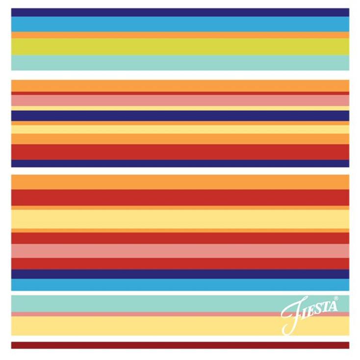 Fiesta Multi Stripe Absorbent Beverage Coasters, Set of 12