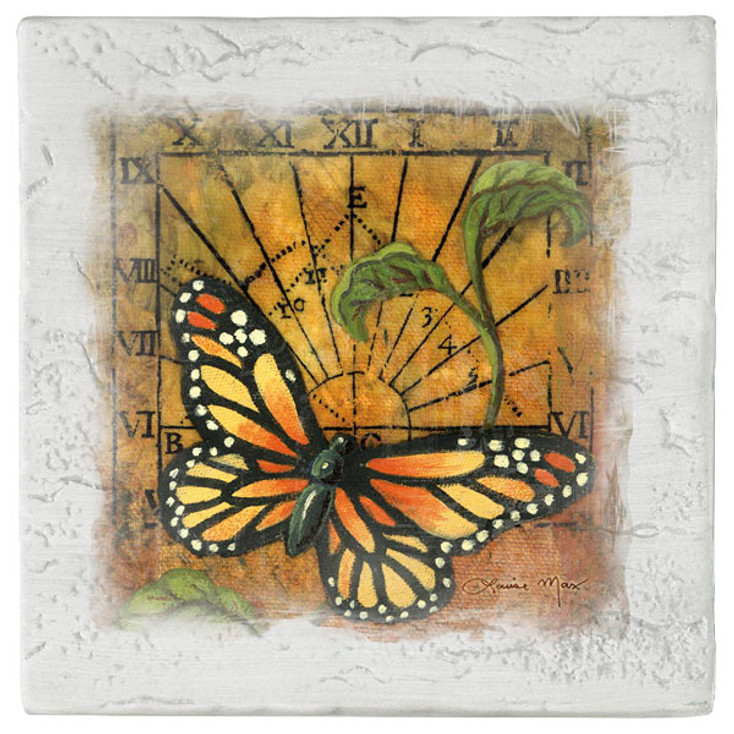 Sundial Butterfly Beverage Coasters, Set of 8