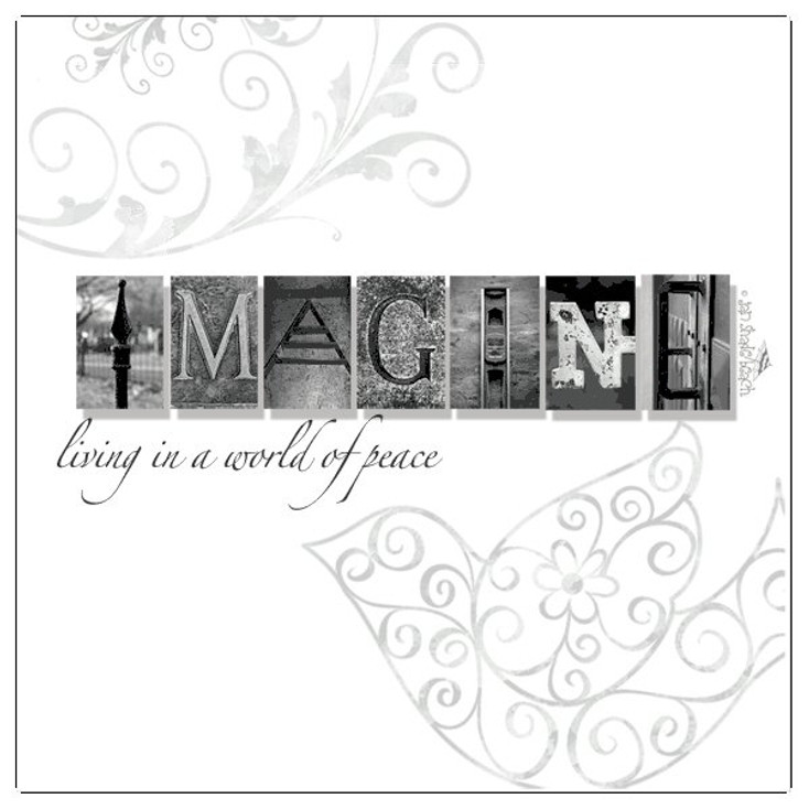 Imagine Absorbent Beverage Coasters by Jan Shade Beach, Set of 12