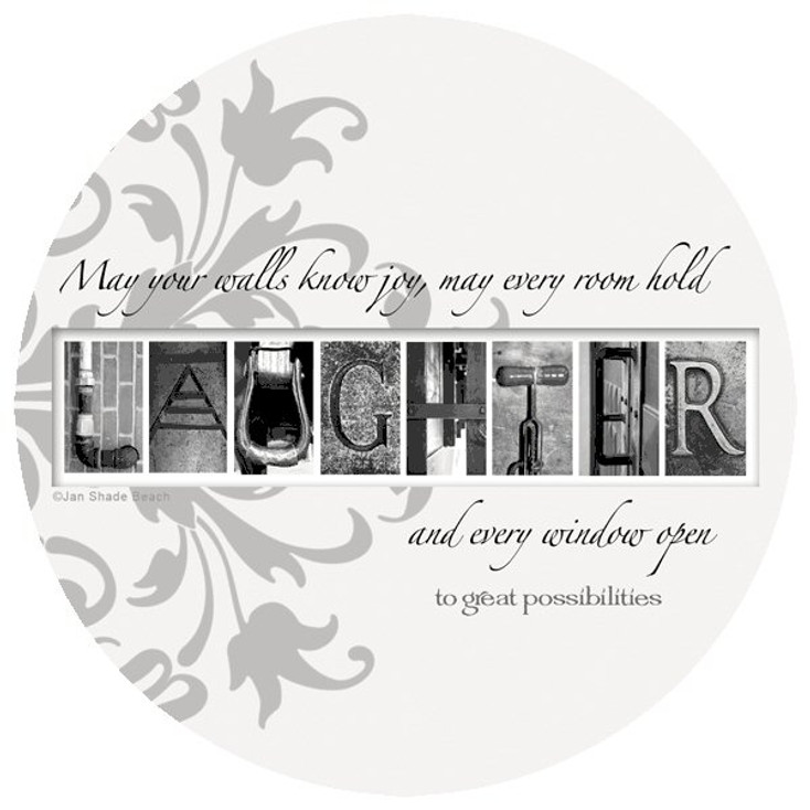 Laughter Absorbent Beverage Coasters by Jan Shade Beach, Set of 8