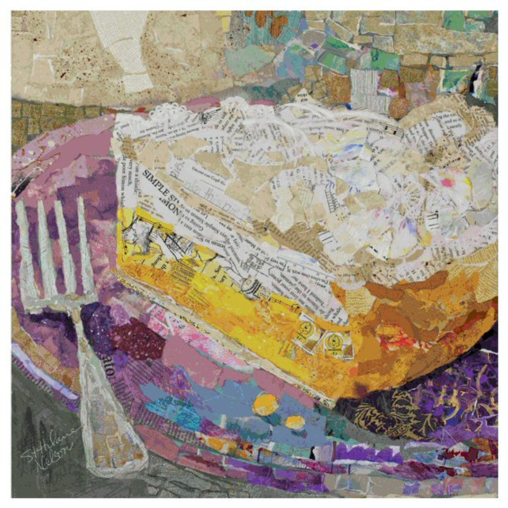 Lemon on Lavender Coasters by Elizabeth St. Hilaire Nelson, Set of 12