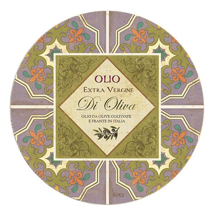 Oliva Collection Sandstone Round Beverage Coasters, Set of 8
