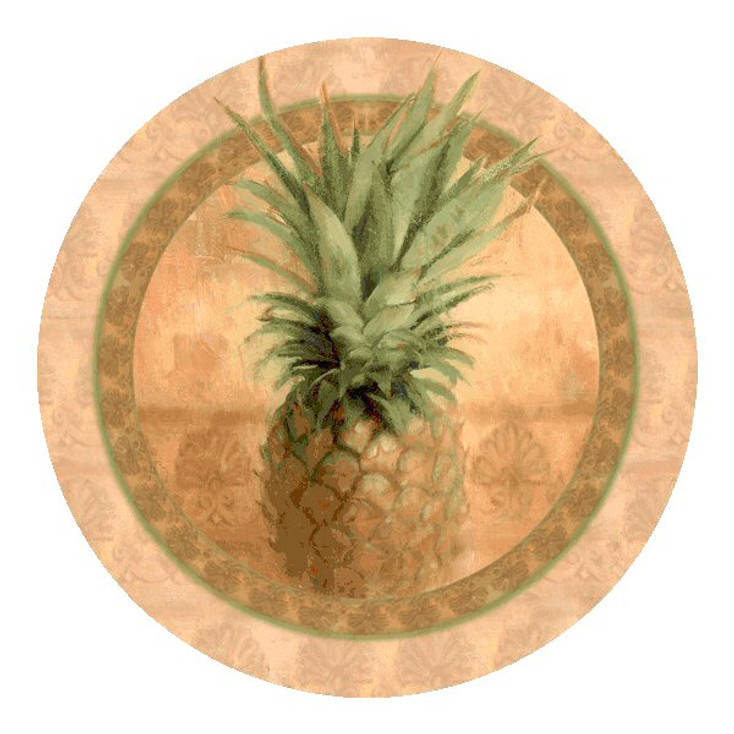 Pineapple Absorbent Round Beverage Coasters, Set of 8