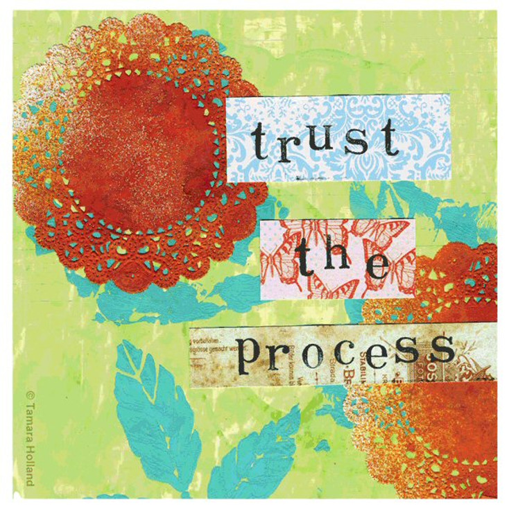 Trust the Process Beverage Coasters by Tamara Holland, Set of 12