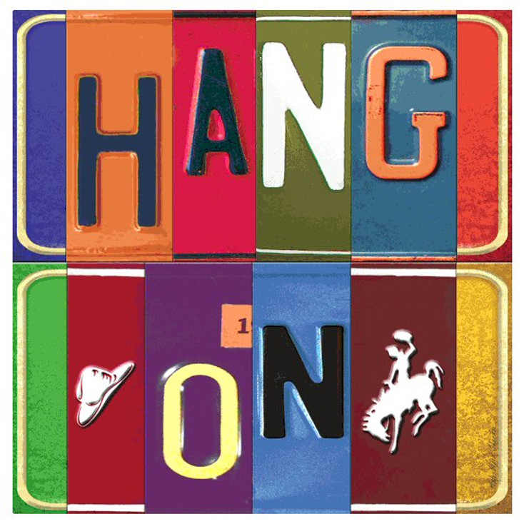 Hang on Absorbent Beverage Coasters by Kate Ward Thacker, Set of 12
