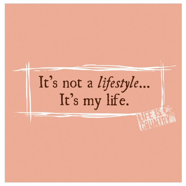 It's Not a Lifestyle Beverage Coasters by Life Is Country, Set of 12