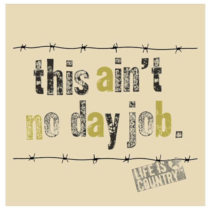 This Ain't No Day Job Beverage Coasters by Life Is Country, Set of 12