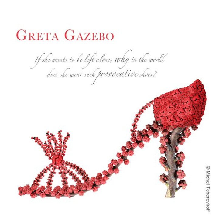 Greta Gazebo Beverage Coasters by Michael Tcherevkoff, Set of 12