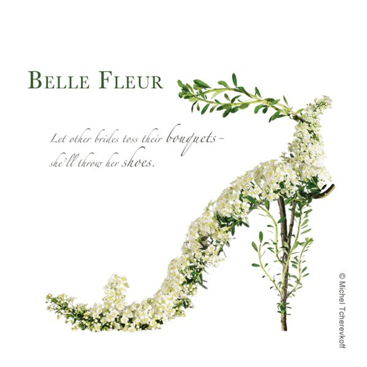 Belle Fleur Beverage Coasters by Michael Tcherevkoff, Set of 12