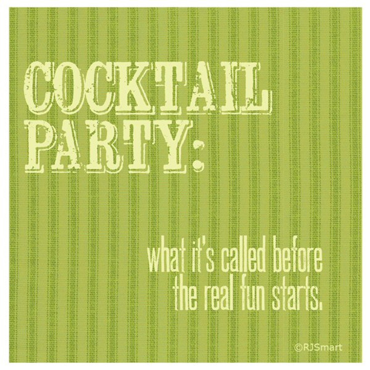 Cocktail Party Absorbent Beverage Coasters by RJ Smart, Set of 12