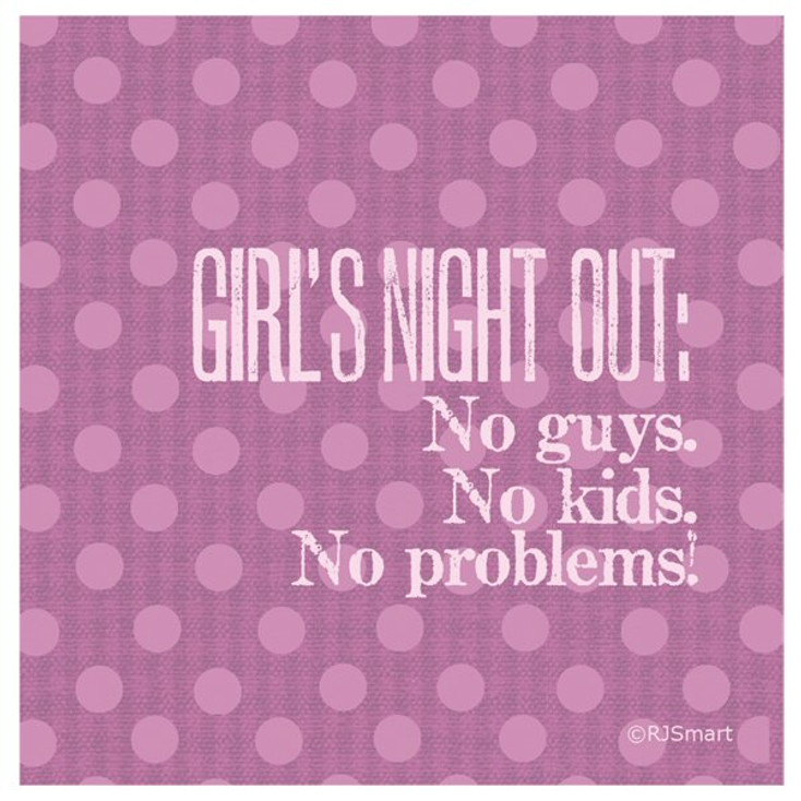 Girl's Night Out Absorbent Beverage Coasters by RJ Smart, Set of 12