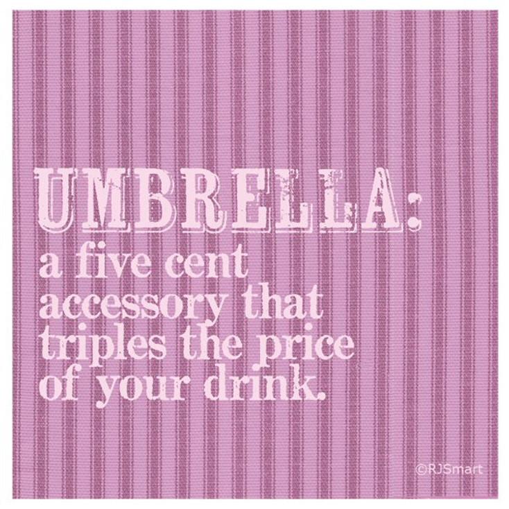 Umbrella Absorbent Beverage Coasters by RJ Smart, Set of 12