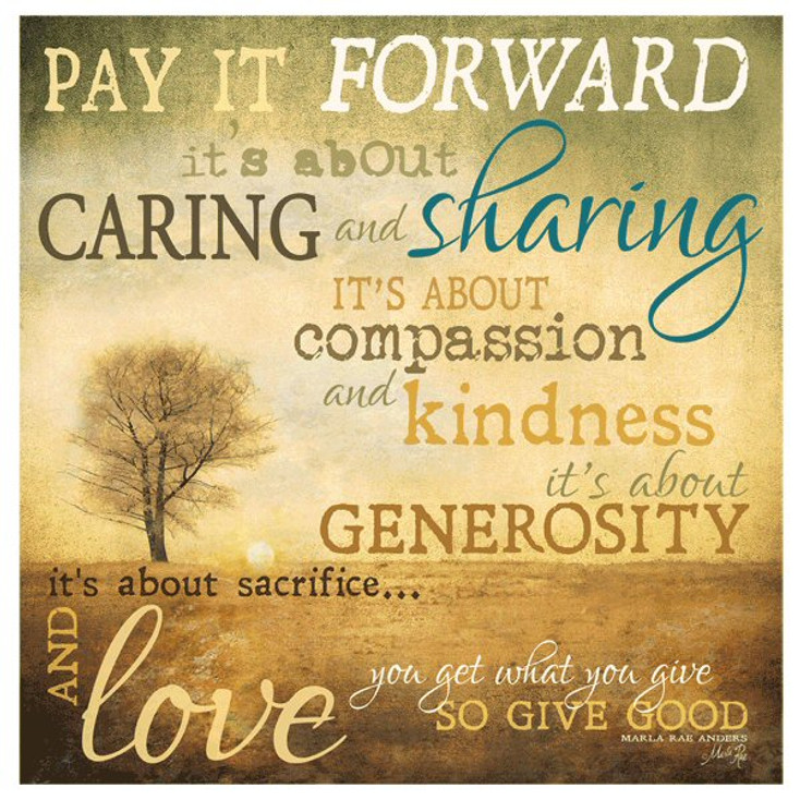 Pay it Forward Absorbent Beverage Coasters, Set of 12