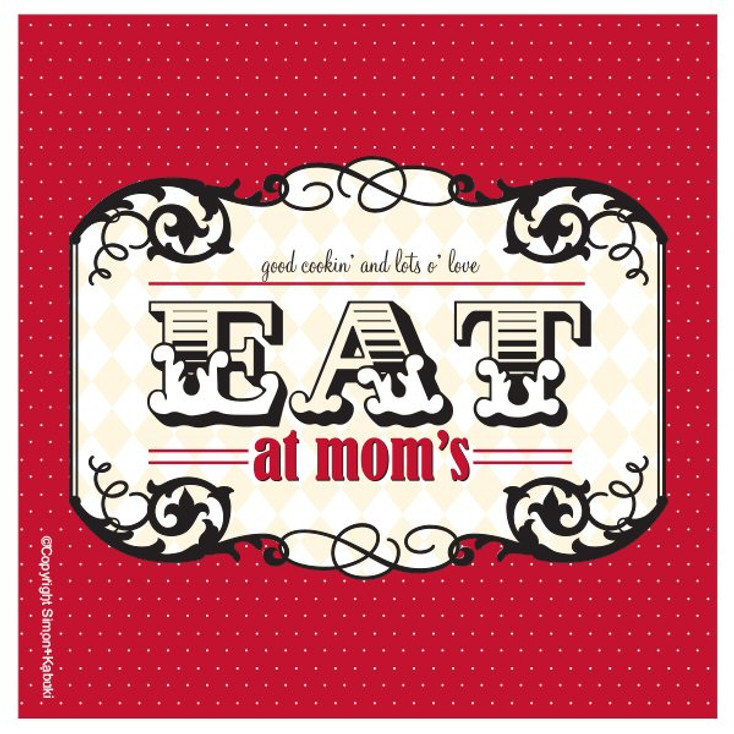 Eat at Mom's Absorbent Beverage Coasters by Simon and Kabuki, Set of 8