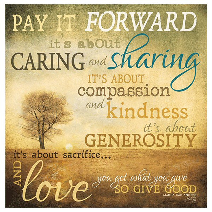 Pay it Forward Absorbent Beverage Coasters, Set of 8