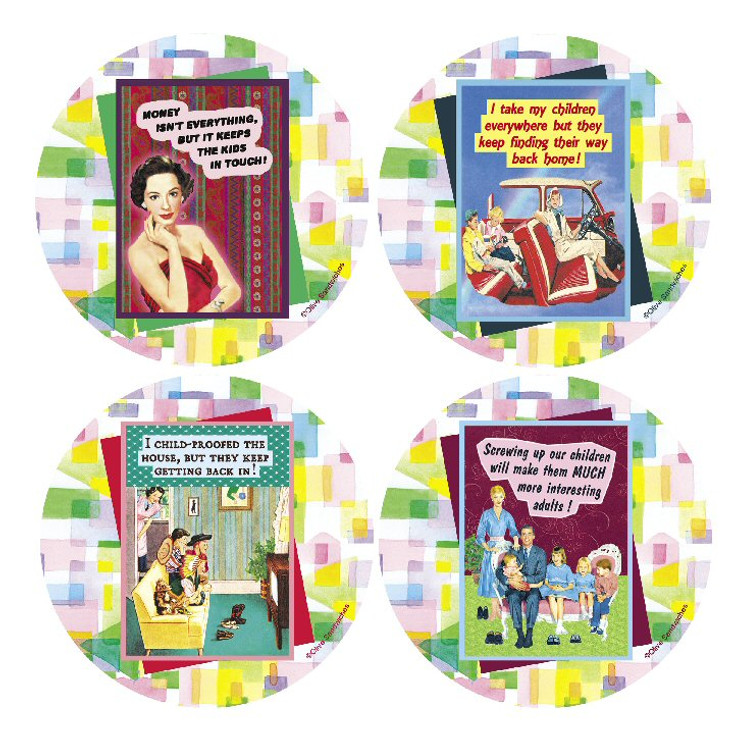 Kids Beverage Coasters, Set of 8