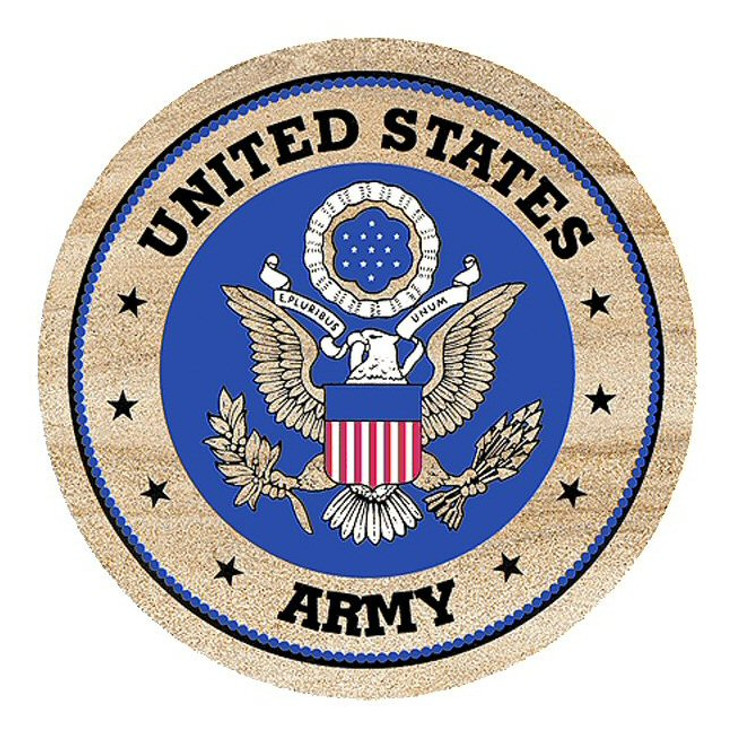 United States Army Sandstone Beverage Coasters, Set of 8