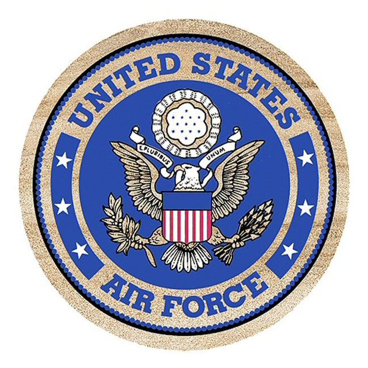 United States Air Force Sandstone Beverage Coasters, Set of 8