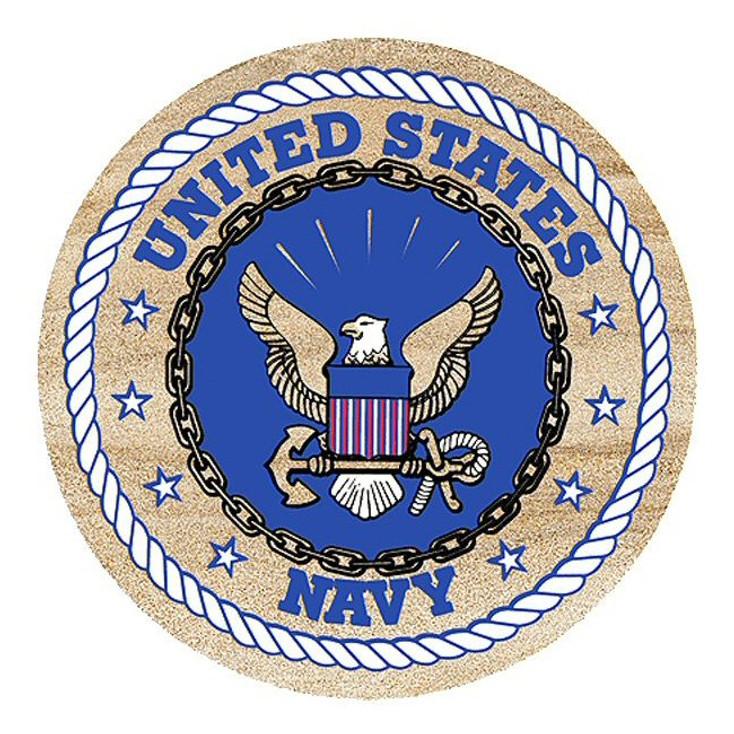 United States Navy Sandstone Beverage Coasters, Set of 8