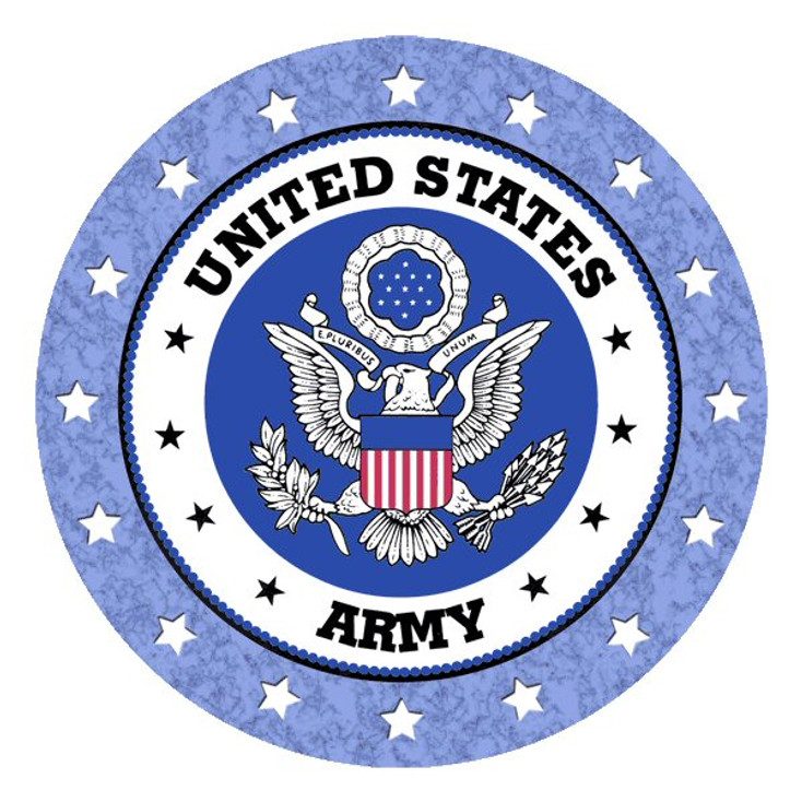 United States Army Absorbent Round Beverage Coasters, Set of 8