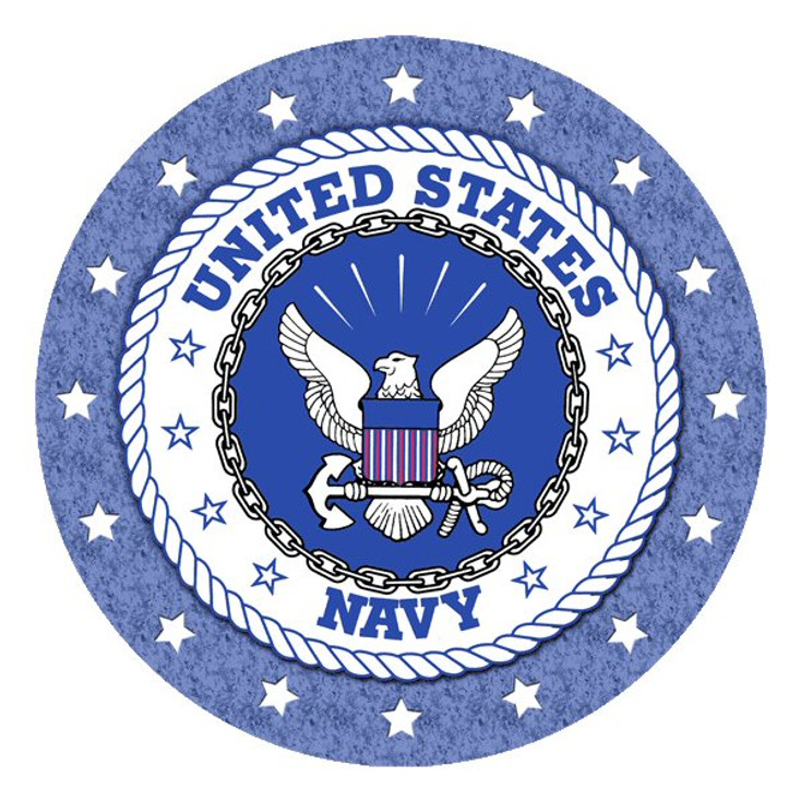 United States Navy Absorbent Round Beverage Coasters, Set of 8