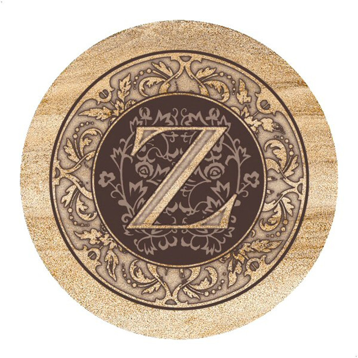 Monogram Z Sandstone Beverage Coasters, Set of 4