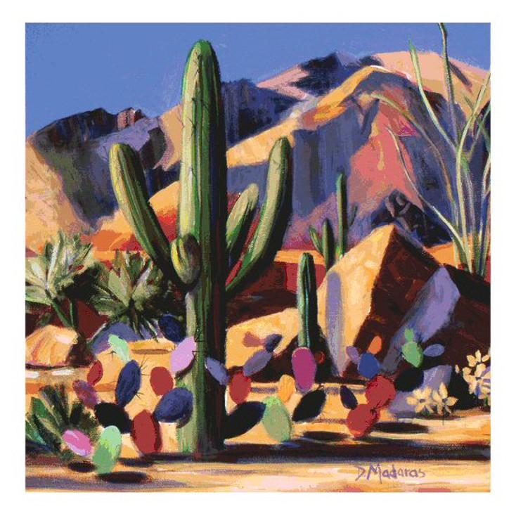 Catalina Magic Cactus Beverage Coasters by Diana Madaras, Set of 8