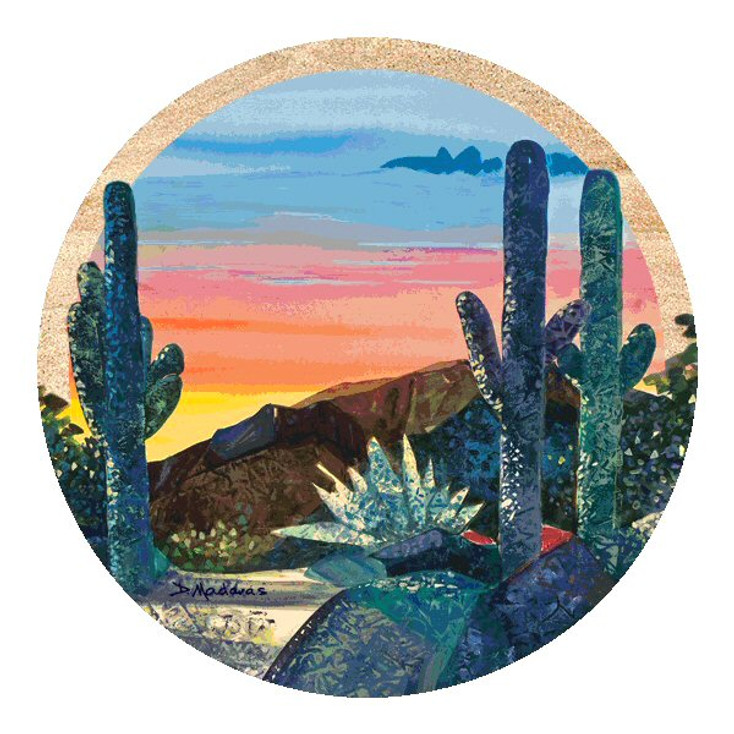 Dusk at Gloria's Canyon Sandstone Coasters by Diana Madaras, Set of 8